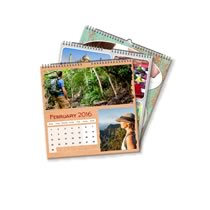 3 x 21cm x 21cm Personalised Desk or Wall Calendar incl Delivery