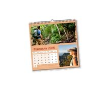 1 x 21cm x 21cm Personalised Desk or Wall Calendar incl Delivery